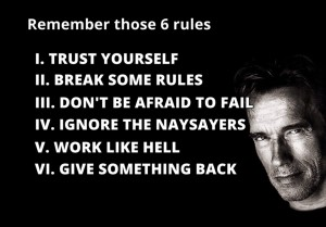 Arnold Schwarzenegger over Motivatie